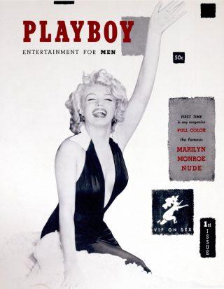 Marilyn Monroe sulla copertina del primo numero di Playboy, 1953