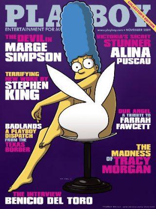 Marge Simpson in copertina, novembre 2009