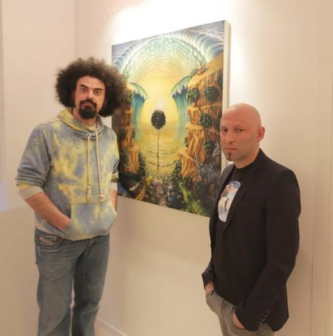 """Caparezza e Domenico Dell'Osso all'esposizione di """"Museica"""" presso la""""Dell'Osso ArtGallery"""""""