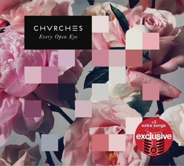 "Copertina ""Every Open Eye"" ad opera di Jez Tozer per i CHVRCHΞS, 2015"