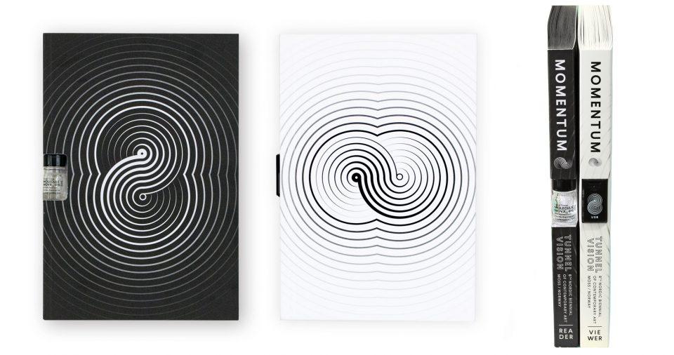 """Copertine e coste dei cataloghi di """"Momentum 8 - Tunnel Vision"""", 2015"""
