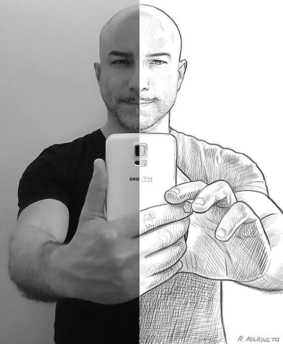 Autoritratto di Raffaele Marinetti