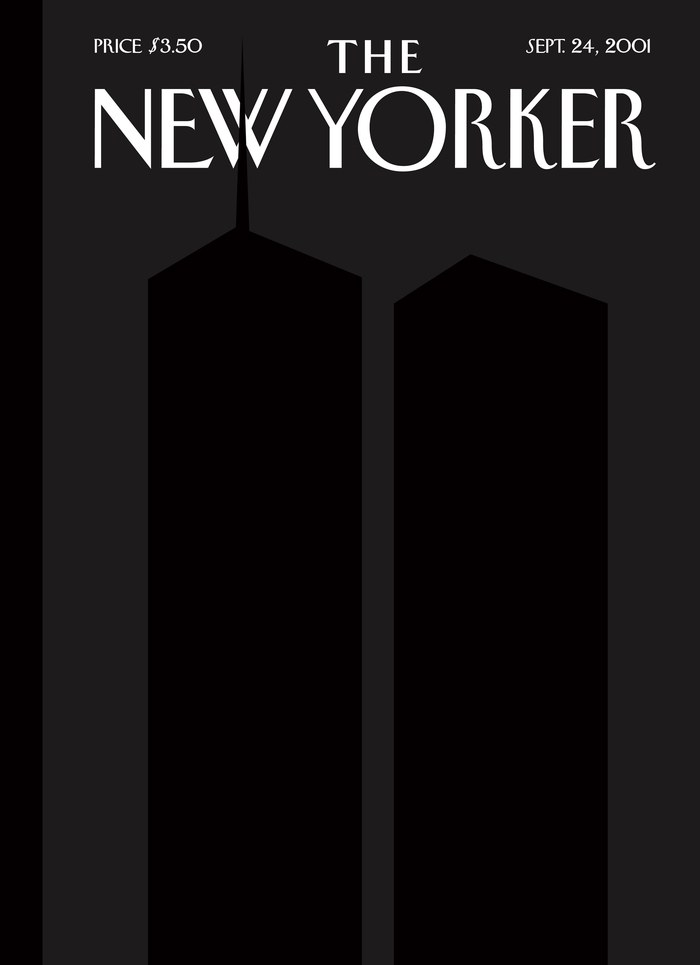 """Back to Black"", copertina di Art Spiegelman per il numero 24/09/2001 di ""The New Yorker"""