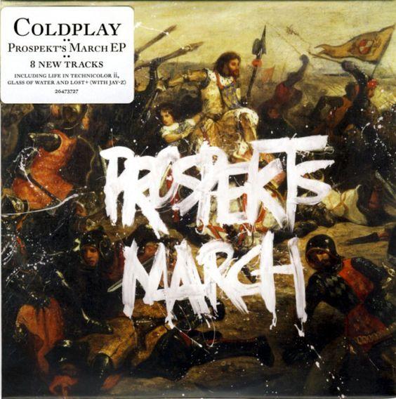 """Copertina di """"Prospekt's March"""" ad opera dei Coldplay e dei Tappin Gofton, 2008"""