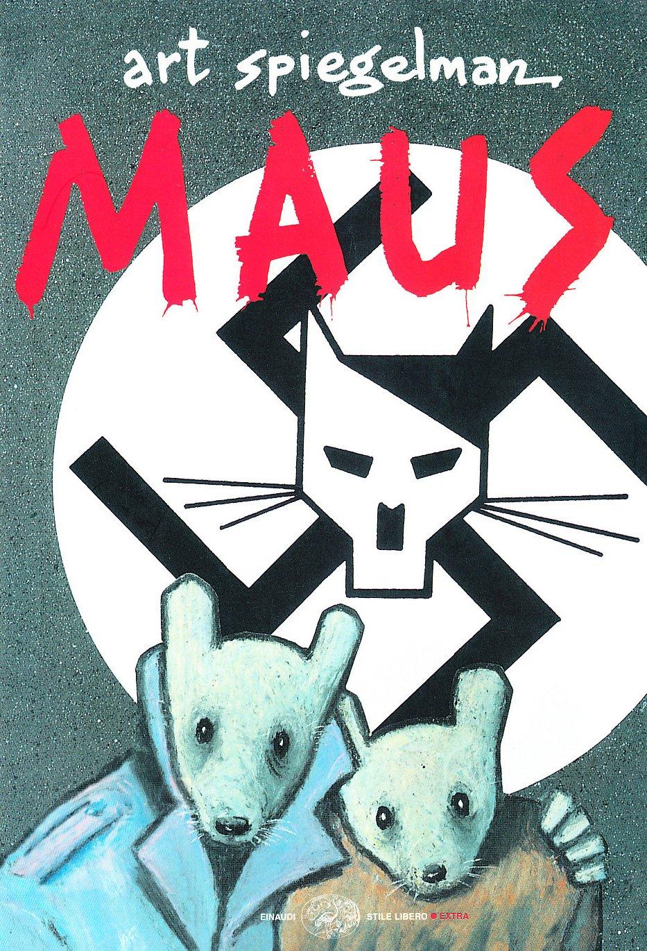 """Copertina di """"Maus"""", romanzo a fumetti di Art Spiegelman,"""