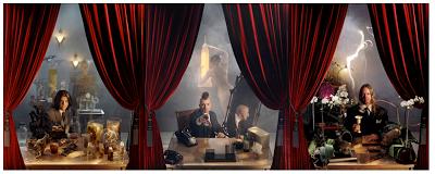"""Tre ritratti dei membri dei Tool, fotografati da Travis Shinn. Booklet di """"10.000 Days"""" ad opera di Alex Grey per i Tool, 2006"""