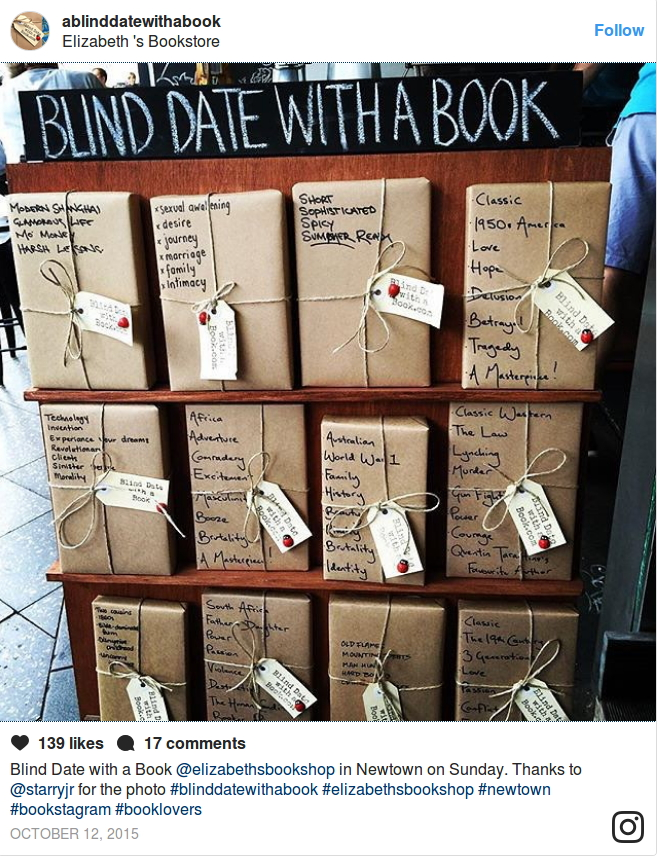 "Pagina Instagram di ""Blind date with a book"""