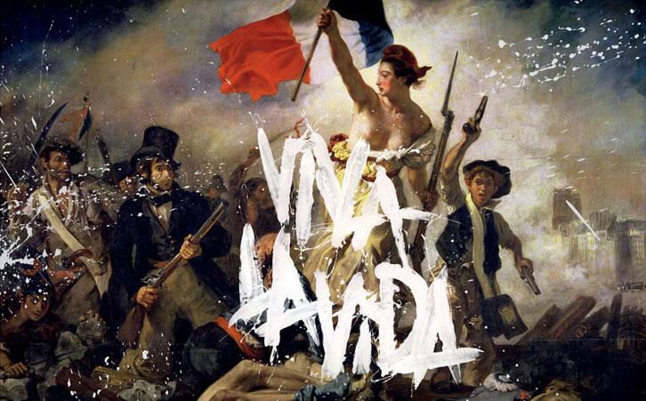 """Copertina di """"Viva La Vida"""" ad opera dei Coldplay e dei Tappin Gofton, 2008"""