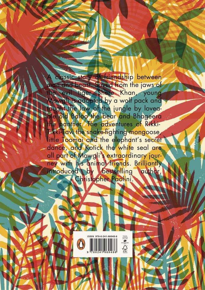 """Retro de """"Il libro della giungla"""" di Rudyard Kipling ad opera di Tatiana Boyko per la casa editrice Penguin Books"""