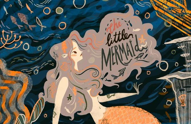 """Copertina realizzata da Karl James Mountford per il libro """"La Sirenetta"""""""