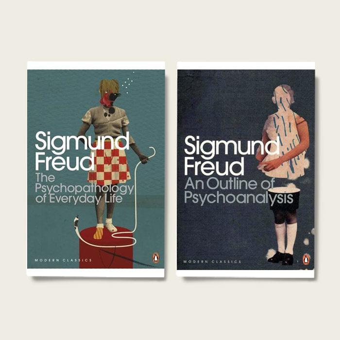 Copertine realizzate da Emmanuel Polanco per gli scritti di Freud pubblicati dalla Penguin Books
