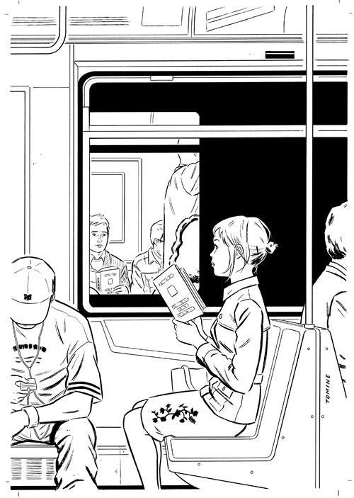 """Schizzo di Adrian Tomine per la copertina del settimanale """"The New Yorker"""", 11 novembre 2004"""