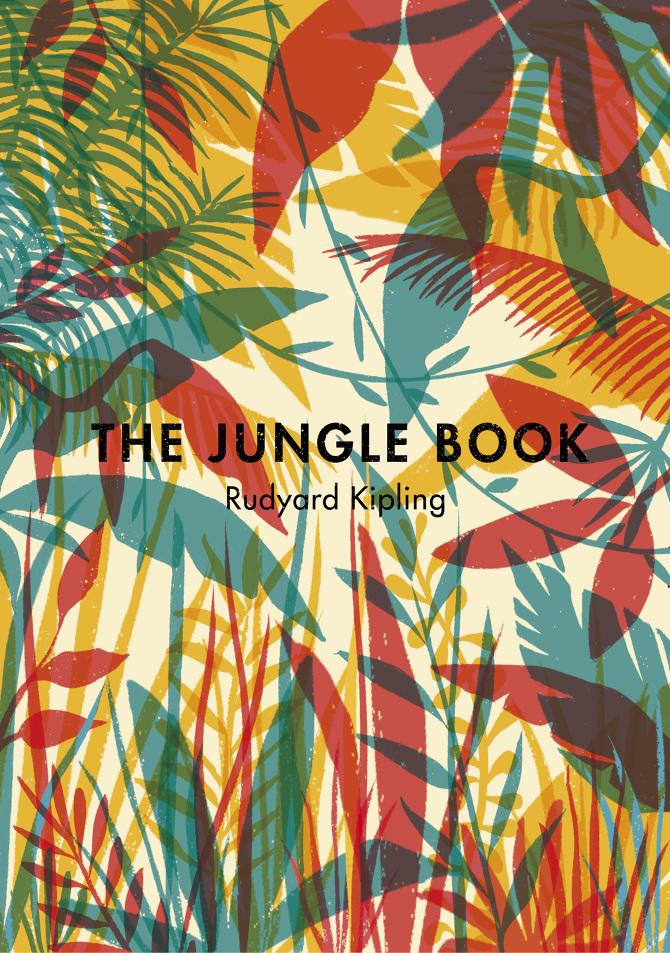 """Copertine de """"Il libro della giungla"""" di Rudyard Kipling ad opera di Tatiana Boyko per la casa editrice Penguin Books"""