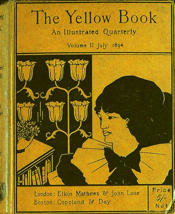 Copertina del numero del luglio 1874 illustrato da Aubrey Beardsley del trimestrale The Yellow book